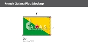 French Guyana Flags 2x3 foot