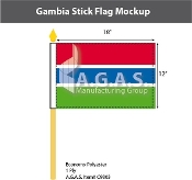Gambia Stick Flags 12x18 inch