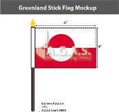 Greenland Stick Flags 4x6 inch