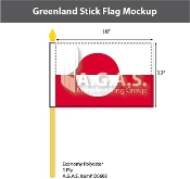Greenland Stick Flags 12x18 inch