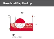 Greenland Flags 12x18 inch