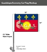 Guadeloupe Car Flags 12x16 inch Economy