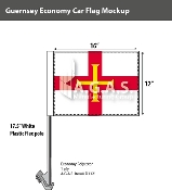Guernsey Car Flags 12x16 inch Economy