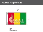 Guinea Flags 12x18 inch
