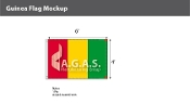 Guinea Flags 4x6 foot