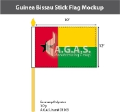 Guinea Bissau Stick Flags 12x18 inch