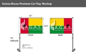 Guinea Bissau Car Flags 10.5x15 inch Premium