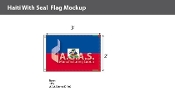 Haiti Flags 2x3 foot (with seal)