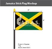 Jamaica Stick Flags 4x6 inch