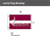 Latvia Flags 12x18 inch
