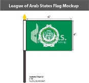 League of Arab States Stick Flags 4x6 inch