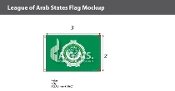 League of Arab States Flags 2x3 foot