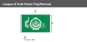 League of Arab States Flags 5x8 foot