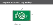 League of Arab States Flags 6x10 foot