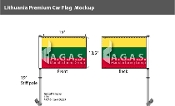 Lithuania Car Flags 10.5x15 inch Premium