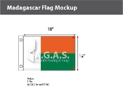 Madagascar Flags 12x18 inch