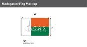 Madagascar Flags 4x6 foot