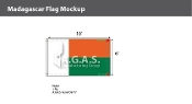 Madagascar Flags 6x10 foot