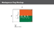 Madagascar Flags 8x12 foot
