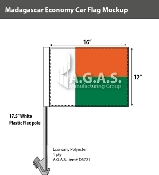 Madagascar Car Flags 12x16 inch Economy