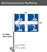 Martinique Car Flags 12x16 inch Economy