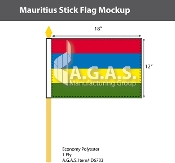 Mauritius Stick Flags 12x18 inch