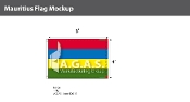 Mauritius Flags 4x6 foot