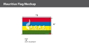 Mauritius Flags 6x10 foot