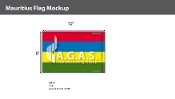 Mauritius Flags 8x12 foot