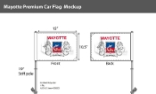Mayotte Car Flags 10.5x15 inch Premium