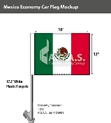 Mexico Car Flags 12x16 inch Economy