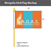 Mongolia Stick Flags 12x18 inch