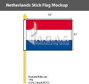 Netherlands Stick Flags 12x18 inch