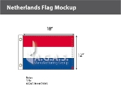 Netherlands Flags 12x18 inch