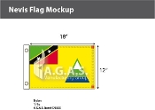 Nevis Flags 12x18 inch