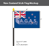 New Zealand Stick Flags 4x6 inch