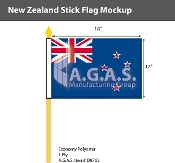 New Zealand Stick Flags 12x18 inch