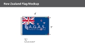 New Zealand Flags 2x3 foot