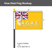 Niue Stick Flags 4x6 inch