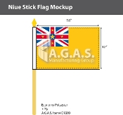 Niue Stick Flags 12x18 inch