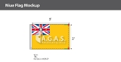 Niue Flags 2x3 foot