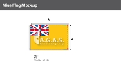 Niue Flags 4x6 foot