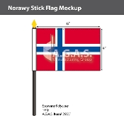 Norway Stick Flags 4x6 inch