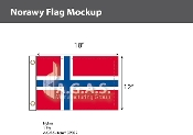Norway Flags 12x18 inch