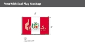Peru Flags 2x3 foot (with seal)