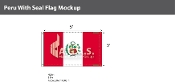 Peru Flags 3x5 foot (with seal)