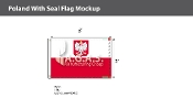 Poland Flags 2x3 foot (with seal)