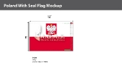 Poland Flags 8x12 foot (with seal)