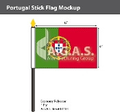 Portugal Stick Flags 4x6 inch