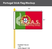Portugal Stick Flags 12x18 inch